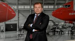 High flier: Tore Jenssen, CEO of Norwegian Air International