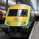 On track: A high-speed train arriving at Heuston Station in Dublin