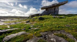 Heritage: Poulnabrone Dolmen Tomb, in the Burren, County Clare is just one of the sites along the Wild Atlantic Way. Photo: Getty