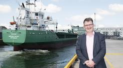 On an even keel: Port of Galway CEO Conor O'Dowd has big plans to develop the docks and beyond