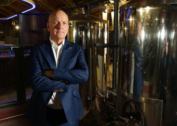 C&C chief executive Stephen Glancey in the company's new 'brew pub' in Dublin. Picture: Damien Eagers
