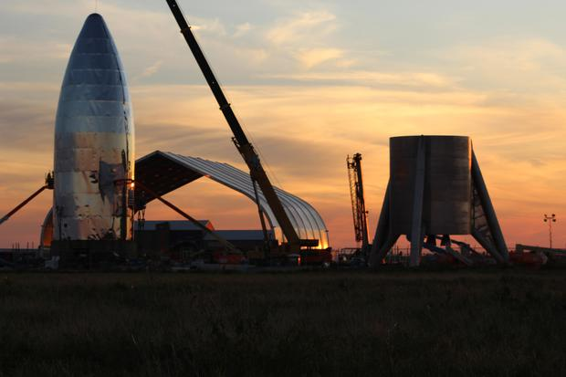 Amazon's bid could see it rival SpaceX, pictured. Photo: Bloomberg