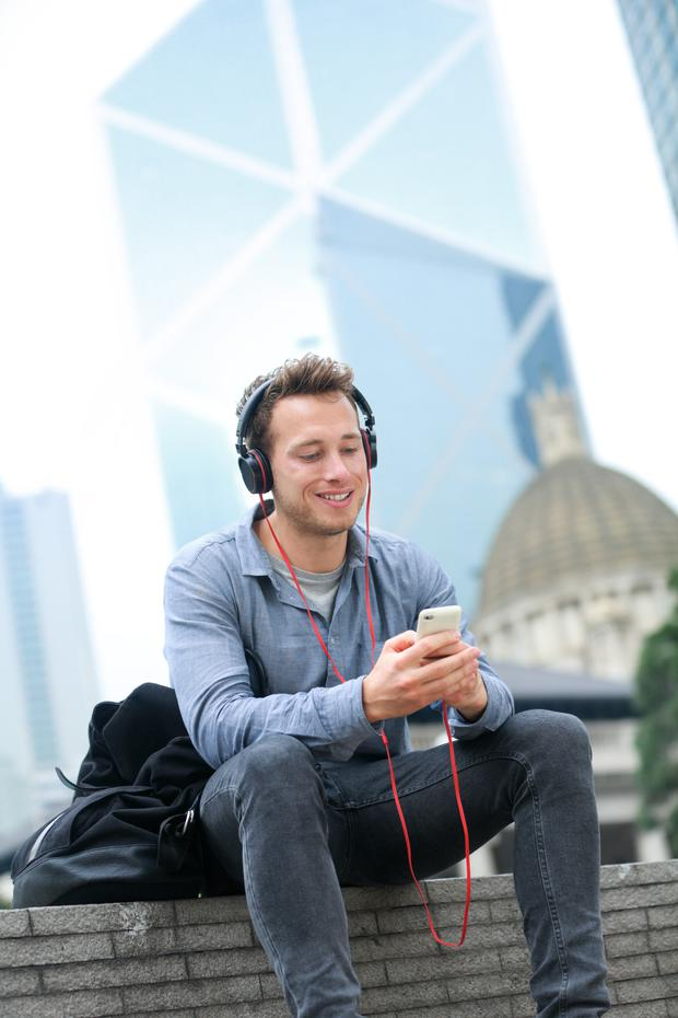 "A 2014 survey found that 53pc of millennials wore headphones for an average of four hours daily, with three-quarters wanting to ""avoid interaction with other people"". Stock image"