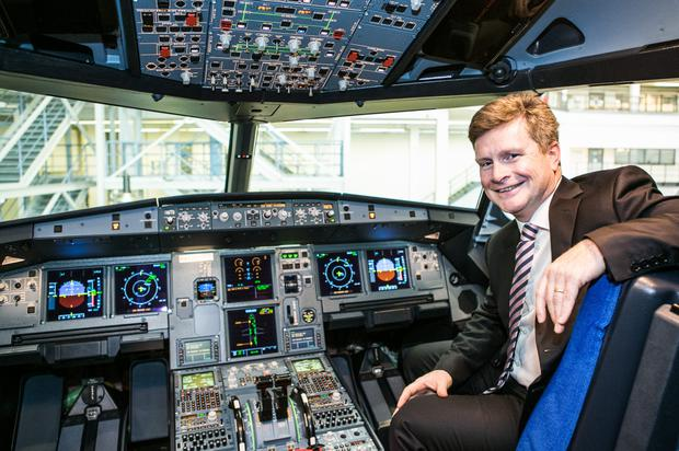 Sky's the limit: Aer Lingus chief executive Sean Doyle is overseeing the delivery of eight new A321LR aeroplanes. Photo: Beatrice Krol