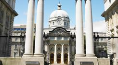 Mr Finnegan told TDs essential restoration and structural works on Leinster House were almost complete with
