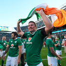 Ireland celebrate victory over the All Blacks in Soldier Field in 2016
