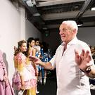 Fashion designer Paul Costelloe backstage following his successful SS19 launch at london fashion week