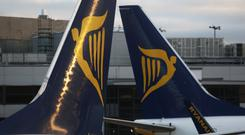 Shares in Ryanair rose as much as 1.6pc yesterday. Stock Image