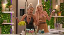 Popular: Love Island contestants Molly-Mae and Amy sing on the show. Photo: ITV