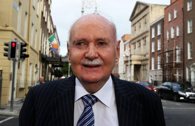 Excused: Michael Fingleton Snr. Photo: Tom Burke