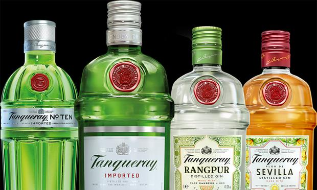 Thirst for gin: Brands such as Tanqueray have boosted profits at Diageo