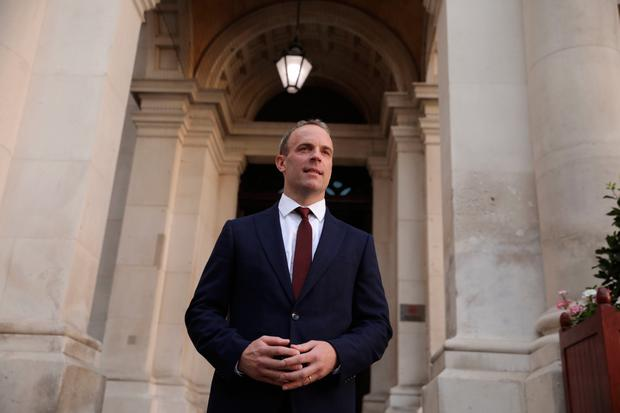 Warning: British foreign secretary Dominic Raab has questioned the backstop