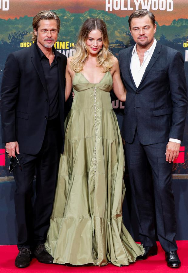 Brad Pitt, Margot Robbie and Leonardo DiCaprio attend the premiere of Once Upon a Time in Hollywood. Plans for a cinema in Dublin's Dawson Street have been put forward by Green REIT. Photo: Fabrizio Bensch/Reuters