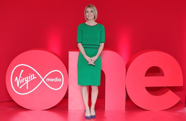 Media: Newsreader Claire Brock at the rebrand of TV3 to Virgin Media Television last year