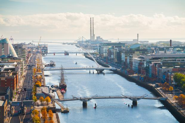 Union Investment, a German real estate fund manager, has acquired 5 Hanover Quay in Dublin's Docklands for just over €190m. Stock photo