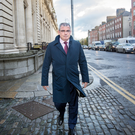 Bernard Byrne, then chief executive of AIB leaving the Department of Finance after meeting with finance minister Pascal Donohoe