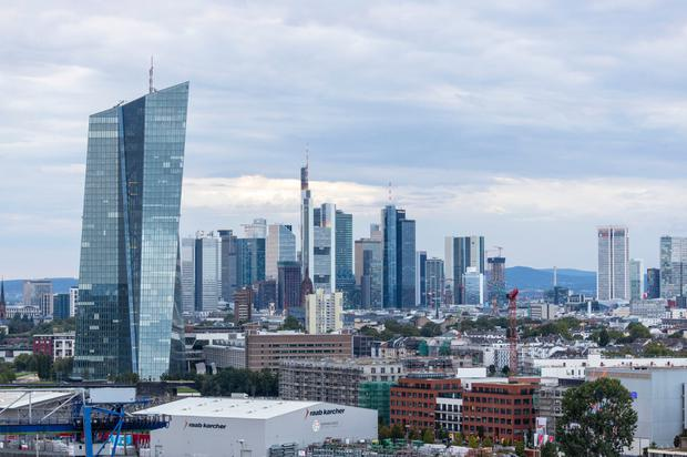 Taking action: The ECB, whose HQ is in Frankfurt, above, is poised to cut interest rates