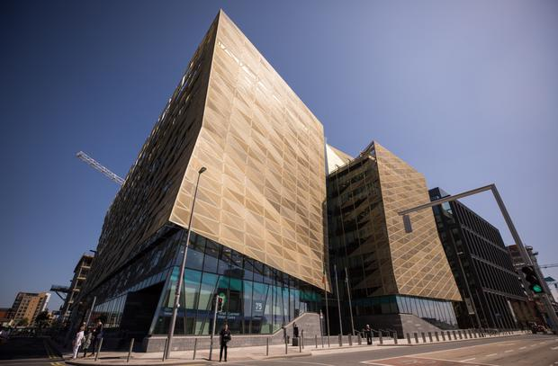 The Central Bank building on the capital's North Wall Quay