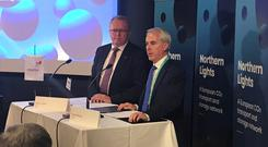 Pledge: Equinor CEO, Eldar Sætre, and Cathal Marley, Interim Ervia CEO signing the agreement