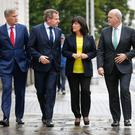 Delegates: Alastair Blair of Accenture; Danny McCoy Ibec CEO; Anne Heraty, CEO CPL Resources; and Colin Hunt CEO of AIB
