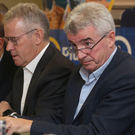 Max factor: Arrival time of new Boeing 737 aircraft the main topic of conversation at the Ryanair AGM in Dublin's City North Hotel. Pictured are group chief executive Michael O'Leary and deputy chairman Stan McCarthy. Photo: Damien Eagers / INM