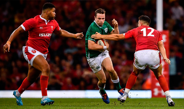 Jack Carty of Ireland — seen here in action against Wales in Cardiff's Principality Stadium last month — has signed up to the new service. Photo: Sportsfile