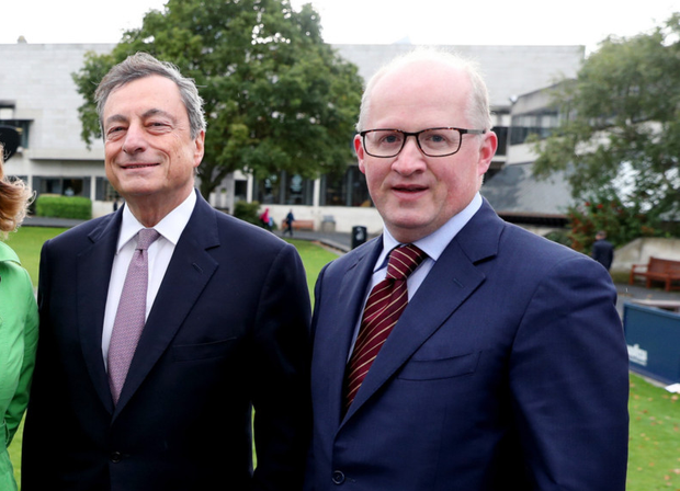 Lambasted: Mario Draghi and Philip Lane are targets of criticism