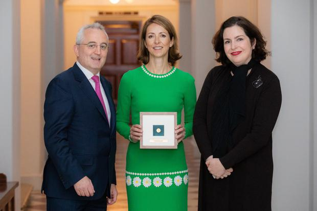 Andrew Keating, chief financial officer of Bank of Ireland; Helena Morrissey, founder of the 30pc Club; and Francesca McDonagh, chief executive of Bank of Ireland