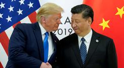 US President Donald Trump with China's President Xi Jinping at the G20 in June. Photo: REUTERS
