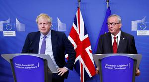 Boris Johnson and Jean Claude-Juncker. Picture: Reuters