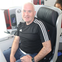 Mark Evans on the return leg from Japan
