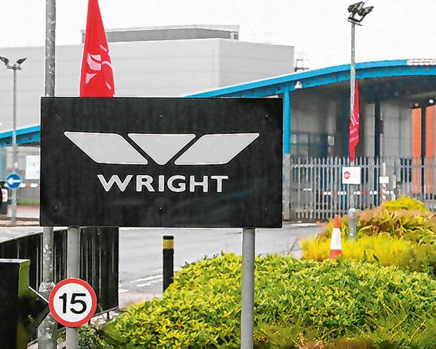 Rescued: The Wrightbus factory in Ballymena will be adding staff