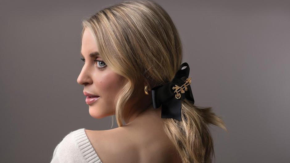 Star power: Actor Amy Huberman modelling some of her jewellery collection for Newbridge Silverware