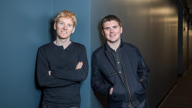 The Collison brothers - Patrick and John - founded the mobile payments tech company Stripe