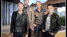 """Westlife's Nicky Byrne, Mark Feehily, Kian Egan and Shane Filan pictured in the Indigo Room at the O2 before a press conference where details of the Westlife  gig at the O2 on Friday 20th of August next. Only 1000 fans will be able to attend the gig, but the concert will be  """"Live Streamed"""" from the O2 on the night."""