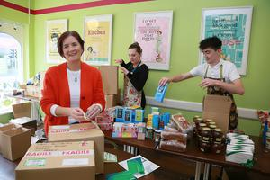 Anne Dunne of the White Gables Restaurant & Shop in Moycullen packs up orders