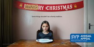Called 'Some Things Shouldn't be a Family Tradition', the campaign was created by the Dublin agency In the Company of Huskies. It highlights the harsh reality of poverty, including food poverty, at a time when many people willingly embrace over-indulgence