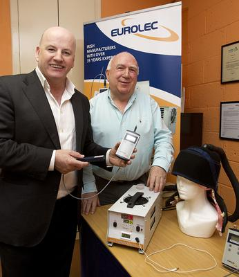 THE MEDTEC TRAILBLAZER: Sean Gallagher with Tom Mears at Eurolec Instrumentation in Dundalk. Photo Tom Conachy