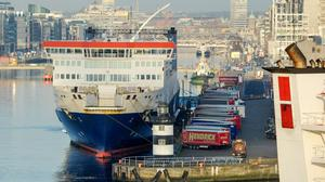 There have been tens of thousands of inspections at the likes of Dublin and Rosslare Ports on goods coming into Ireland. Photo: Aidan Crawley/Bloomberg