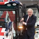 Prime Minister Boris Johnson during a visit to JCB Cab Manufacturing Centre in Uttoxeter, while on the General Election campaign trail. Photo: PA