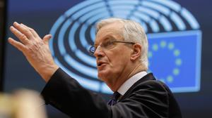EU negotiator Michel Barnier moved on the fishery crux when he offered to give up 25pc of the EU boats' €650m catch in lucrative UK waters. Photo: Olivier Hoslet/AP