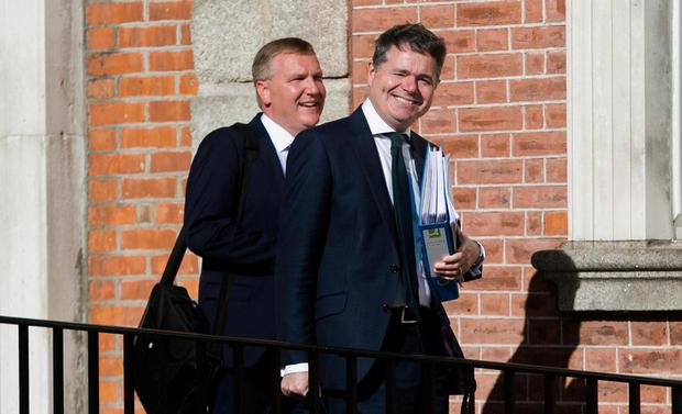 Finance Minister Paschal Donohoe (right) and Public Expenditure Minister Michael McGrath