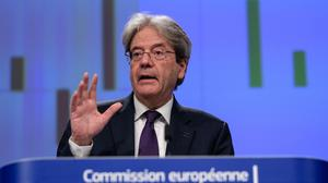 """Paolo Gentiloni: EU economy commissioner said recovery proceeding """"at speed"""""""