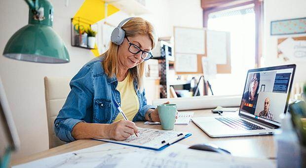 People can claim up to 30pc of household power bills on the days they work from home.. Stock image