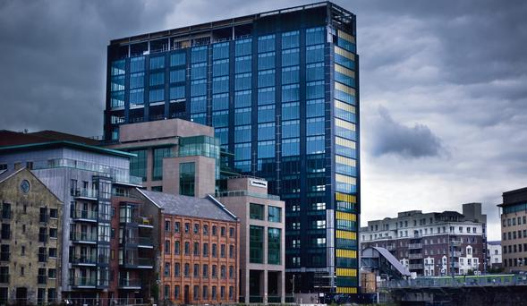 Google's Dublin headquarters at the former Montevetro Building in Grand Canal Dock