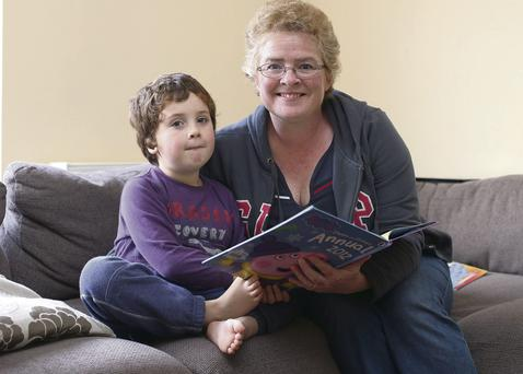 Jen Mooney with her son Rory (6)