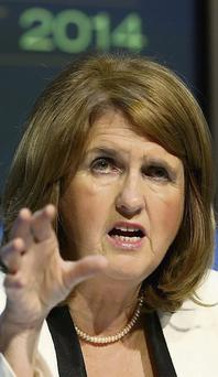 ONE-WOMAN WONDER: Joan Burton delivered
