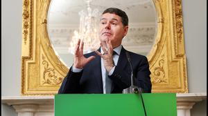 Poliices: Paschal Donohoe said international cooperation can help avoid harsh decisions. Photo: Steve Humphreys