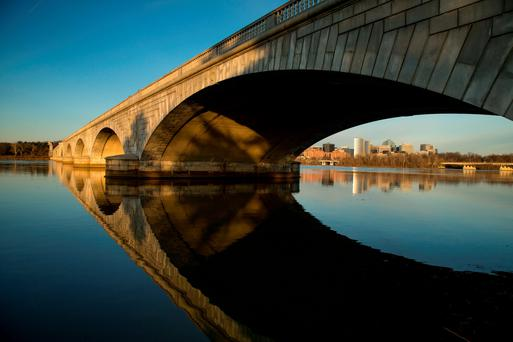 The Arlington Memorial Bridge, Washington. AP Photo/Andrew Harnik)