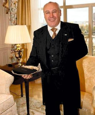 SAVOY STYLE: Limerick-born Sean Davoren is head butler at the Savoy Hotel in London